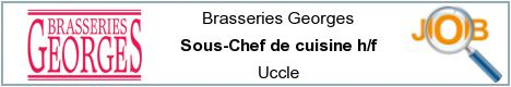 Job offers - Sous-Chef de cuisine h/f - Uccle