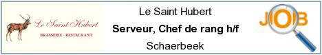 Job offers - Serveur, Chef de rang h/f - Schaerbeek