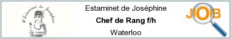 Job offers - Chef de Rang f/h - Waterloo
