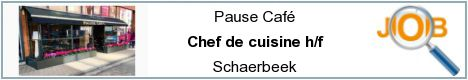 Job offers - Chef de cuisine h/f - Schaerbeek