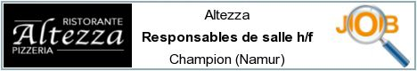 Job offers - Responsables de salle h/f - Champion (Namur)