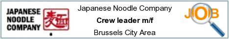 Offres d'emploi - Crew leader m/f - Brussels City Area