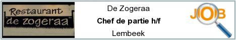Job offers - Chef de partie h/f - Lembeek