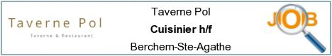 Job offers - Cuisinier h/f - Berchem-Ste-Agathe