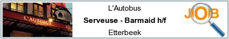 Job offers - Serveuse - Barmaid h/f - Etterbeek
