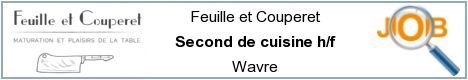 Job offers - Second de cuisine h/f - Wavre